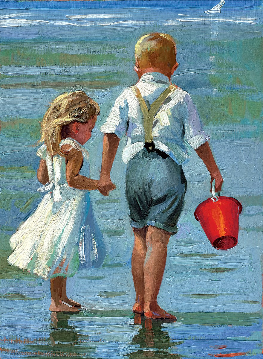 Hold On Tight by Sherree Valentine Daines - Hand Finished Limited Edition on Canvas sized 9x12 inches. Available from Whitewall Galleries